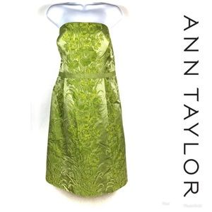 LIKE NEW ANN TAYLOR Strapless Dress Sz 14P